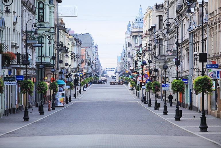 Ulica Piotrkowska w Łodzi, 2012, fot. Ministerstwo Spraw Zagranicznych