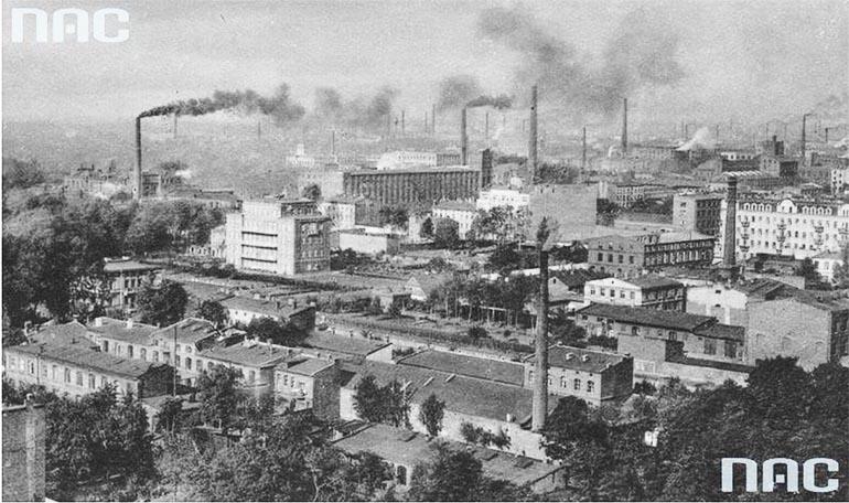Panorama Łodzi, lata 30 XX wieku, fot. NAC