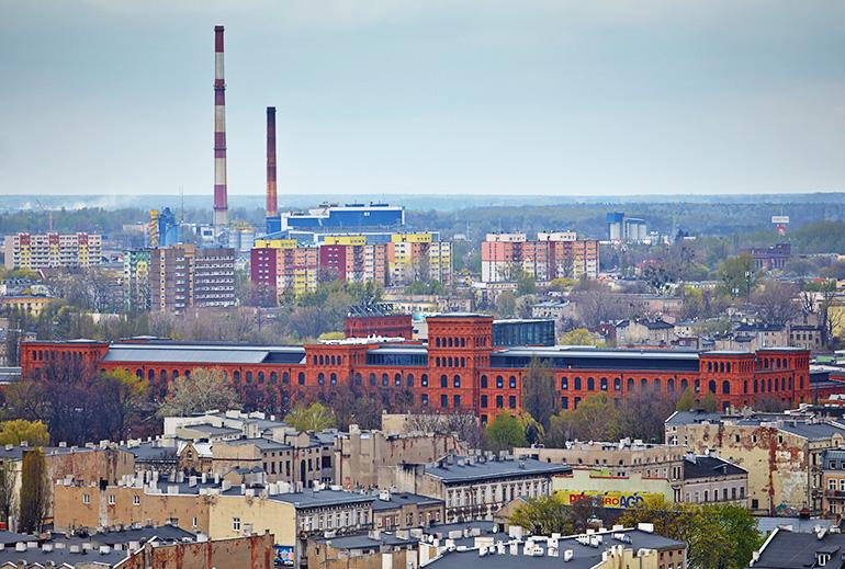 Łodz panorama, July 2014, photo  Michał Tuliński / Forum