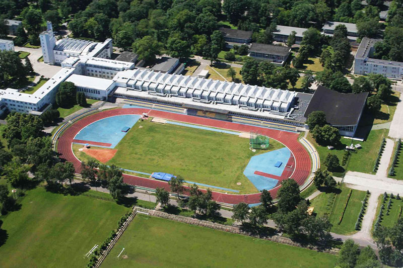 Campus of the University of Physical Education in Warsaw, bird's eye view, photo:  AWF press materials