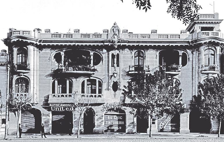 National Headquarters of College of Architects, Santiago (1922), photo source: Proyecto Santiago Kul