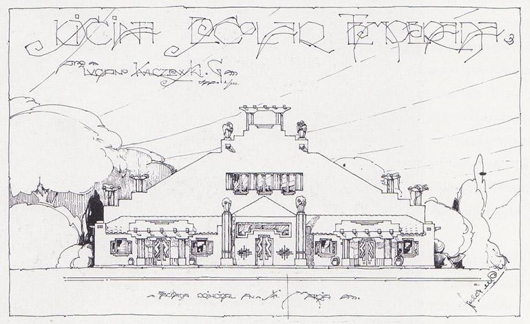 One of Kulczewski's drawings, photo source: Proyecto Santiago Kul