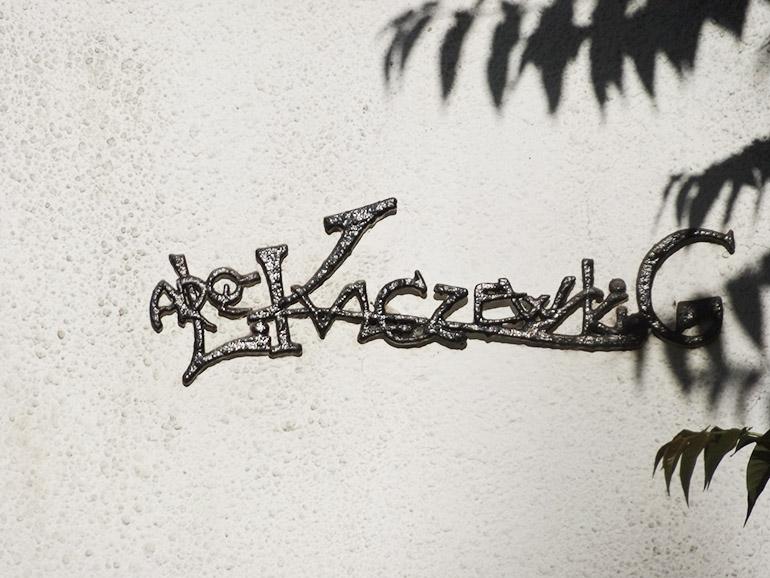 Kulczewski's signature on the Casa Manuell Montt, photo source: Proyecto Santiago Kul