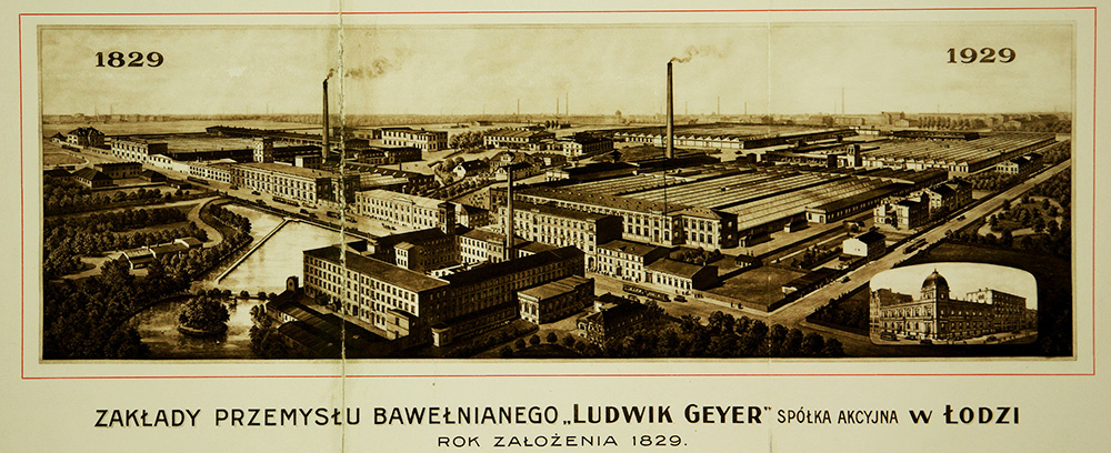 A view of the Ludwik Geyer Cotton Industry Factory in Łódź, photo: National Archive in Łódź