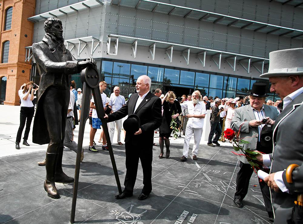 The unveiling of Rajmund Rembieliński's monument in Łódź, photo: Małgorzata Kujawka