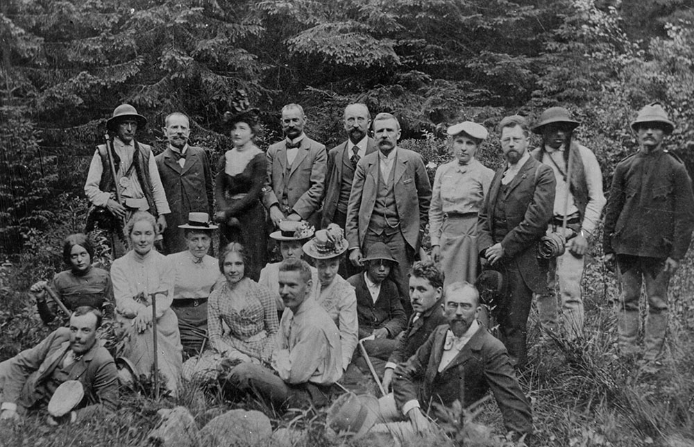 Групповая экскурсия, ок. 1900, фото: Музей Татр в Закопане