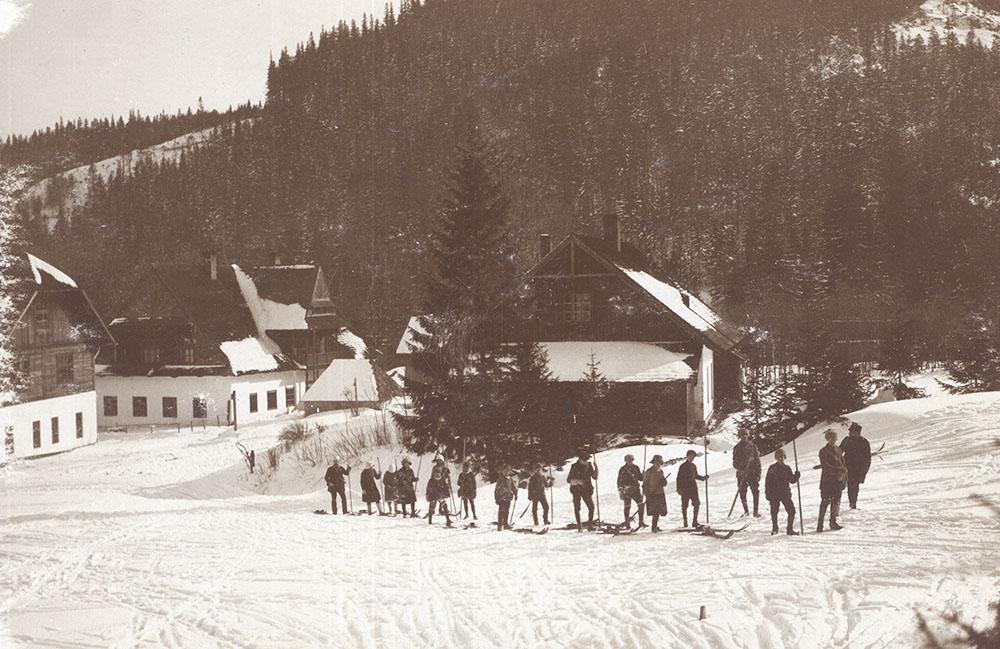 Лыжники в Закопане, ок. 1912 г. Фото: Я. Опперхайм/Музей Татр в Закопане
