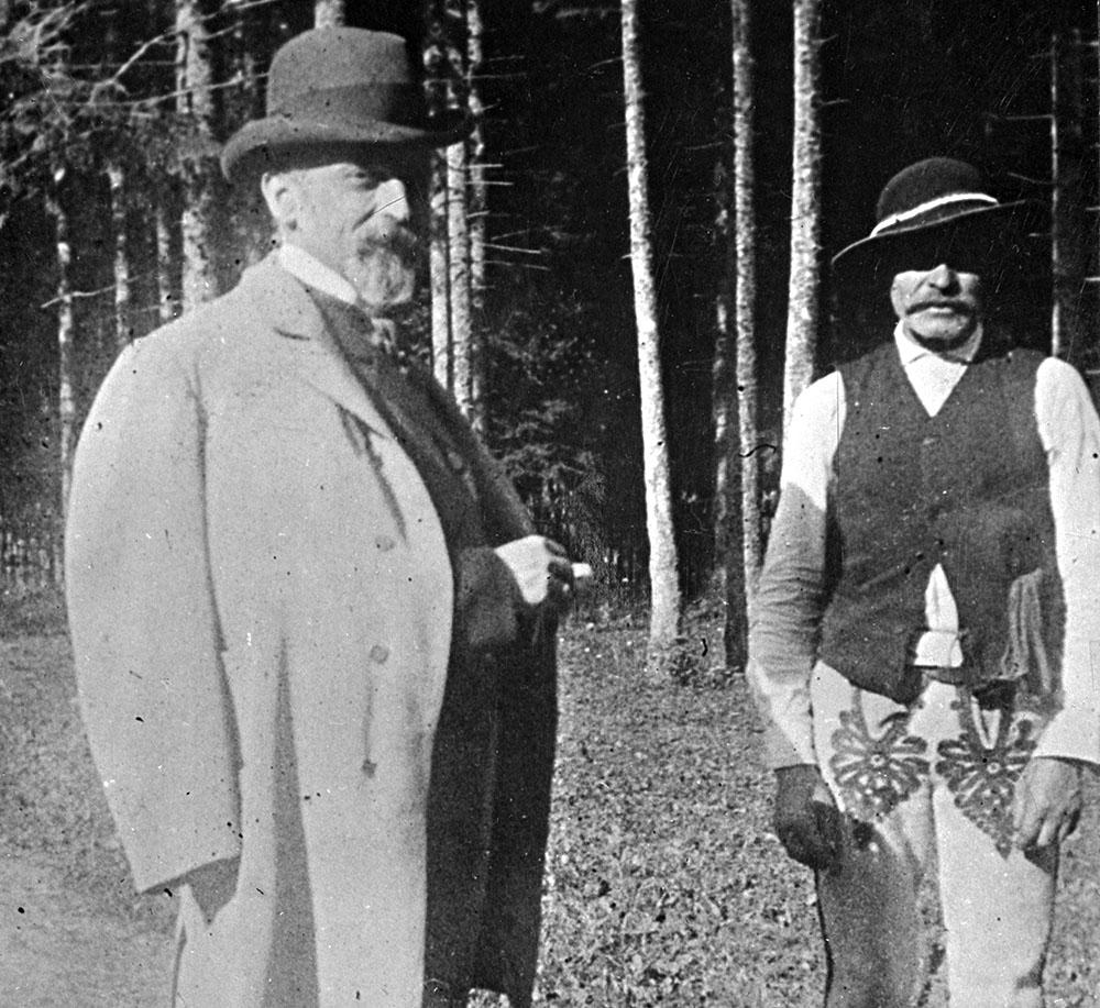 Генрих Сенкевич и гураль Войцех Гандра в Закопане, ок. 1896. Фото: Музей Татр в Закопане