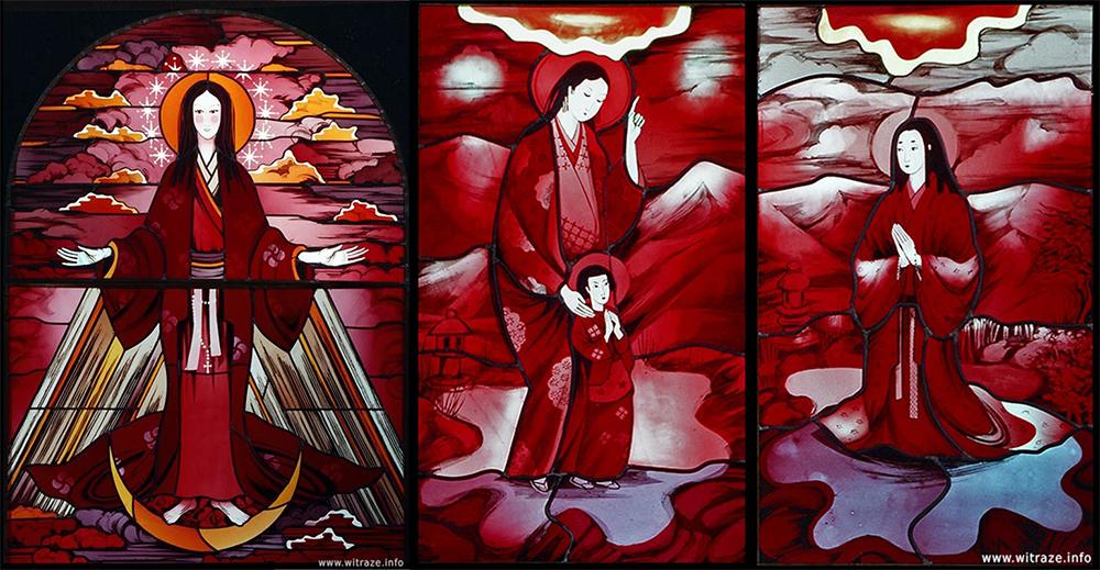 Teresa Maria Reklewska,  Matka Boża Niepokalana i sceny męczeństwa chrześcijan w Japonii, fot. dzięki uprzejmości  www.witraze.info