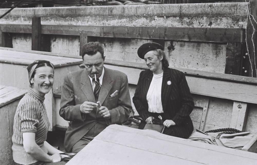 W łodzi, od lewej: Zofia Siemaszkowa, Stanisław Brukalski, Barbara Brukalska, fot. Adam Siemaszko/http://muzeumzofiiiadama.pl