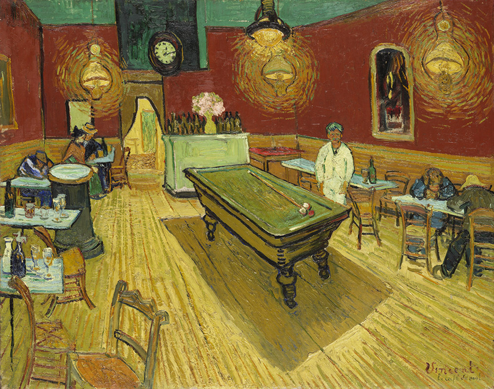 Le Café de Nuit by Vincent van Gogh, 1888, photo: Yale University Art Gallery Museum