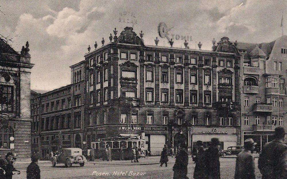 Отель «Базар» в Познани, 1939–1944, фото: fotopolska.eu
