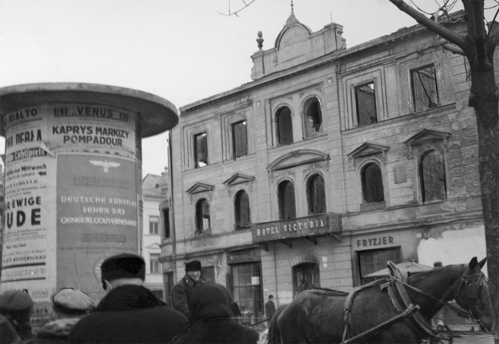 Hotel VictoriaОтель «Виктория» в Люблине, 1939, фото: Национальный цифровой архив / www.audiovis.nac.gov.pl w Lublinie, 1939, fot. www.audiovis.nac.gov.pl (NAC)