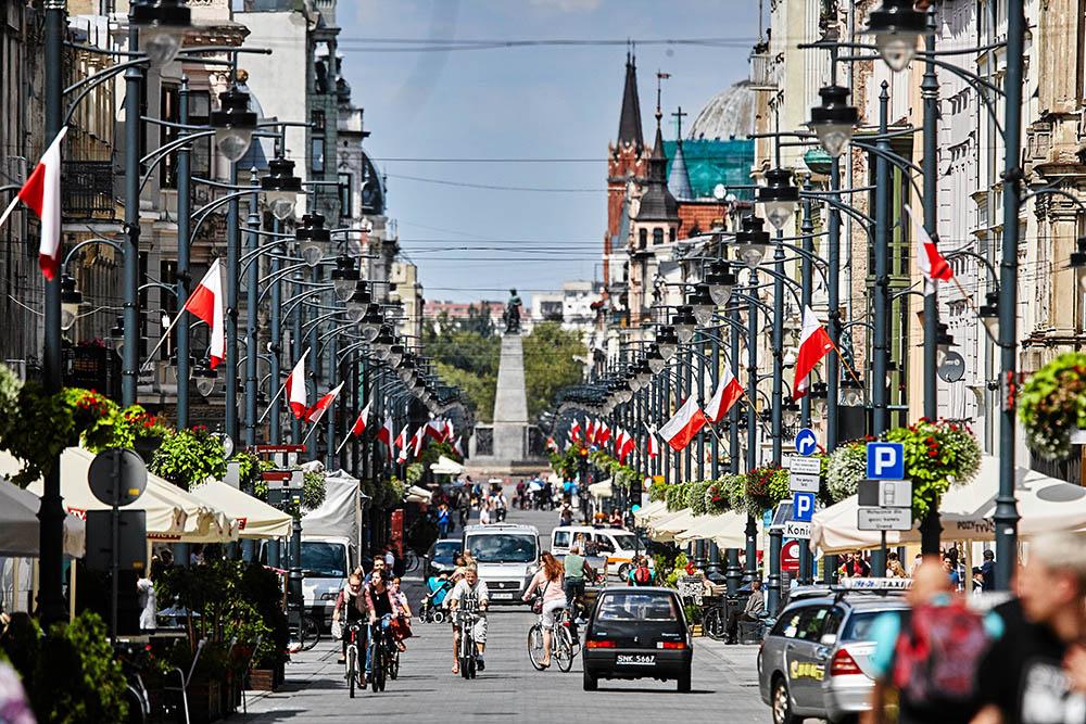 Улица Пётрковская в Лодзи. Фото: Томаш Станьчак/AG