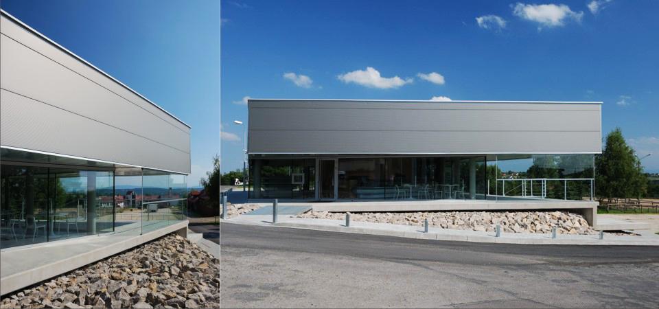 Stacja paliw w miejscowości Siercza koło Wieliczki, 2010, projekt:  Jacek Krych i Dariusz Gajewski, fot. dzięki uprzejmości projektantów/ http://jacekkrych.pl/
