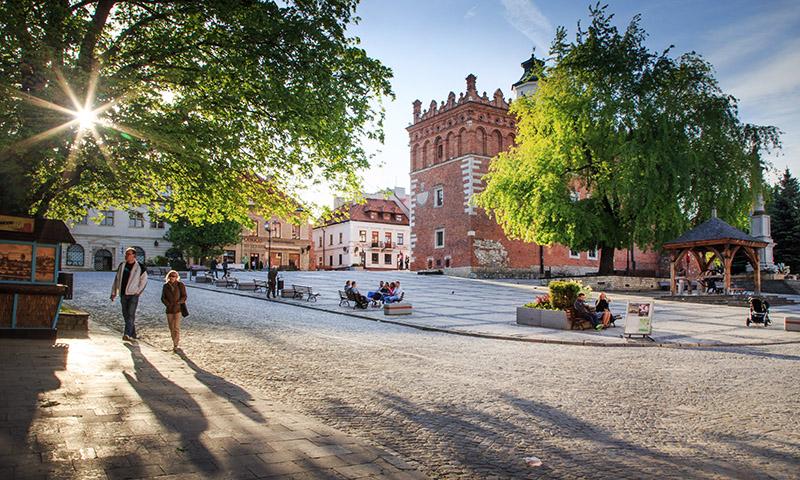Sandomierz, Rynek Starego Miasta fot. Adam Ławnik / East News