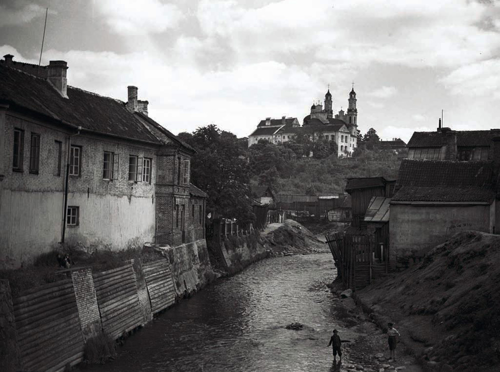 Widok w kierunku Rossy, fotografia z 1935 roku, autor nieznany