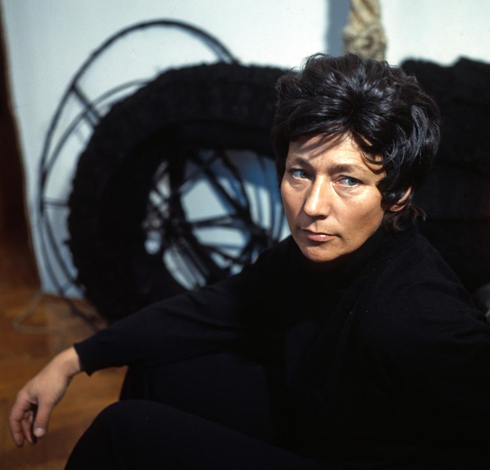 Magdalena Abakanowicz, 1972, fot. Andrzej Wiernicki /Forum