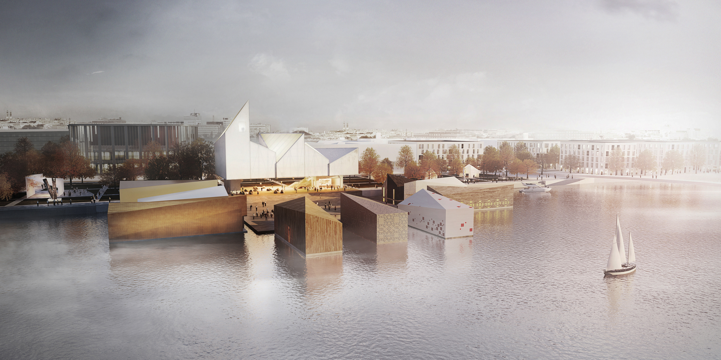 Visualisation of the Baltic Sea Art Park in Estonia, project: WXCA architecture studio, photo: press materials