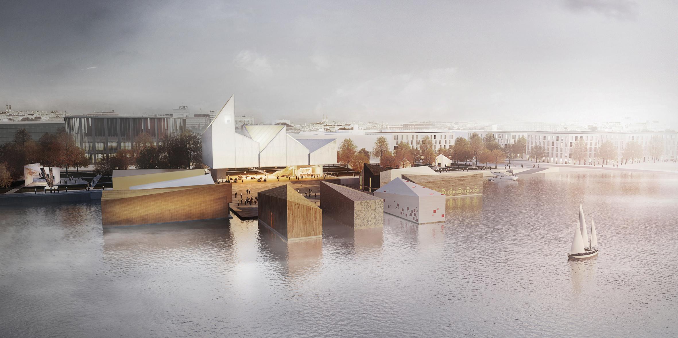Visualisation of the Baltic Sea Art Park in Estonia, project: WXCA architecture studio, photo: press materials