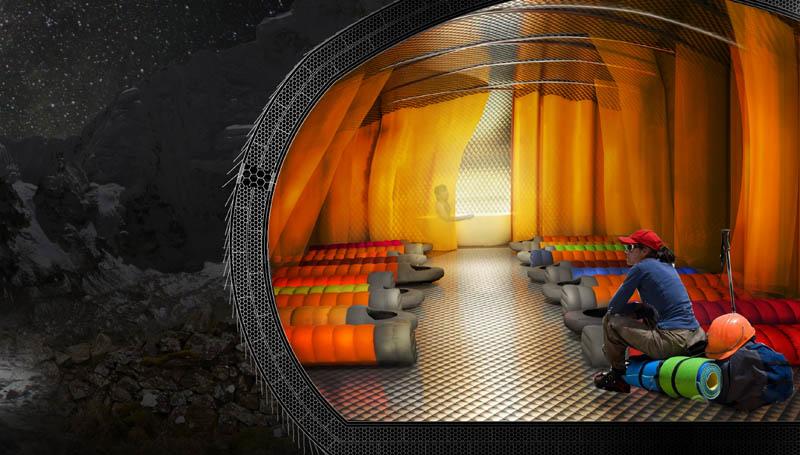 Praca ArC2 Fabryki Projektowej, II miejsce w konkursie Himalayan Mountain Hut, fot. materiały prasowe