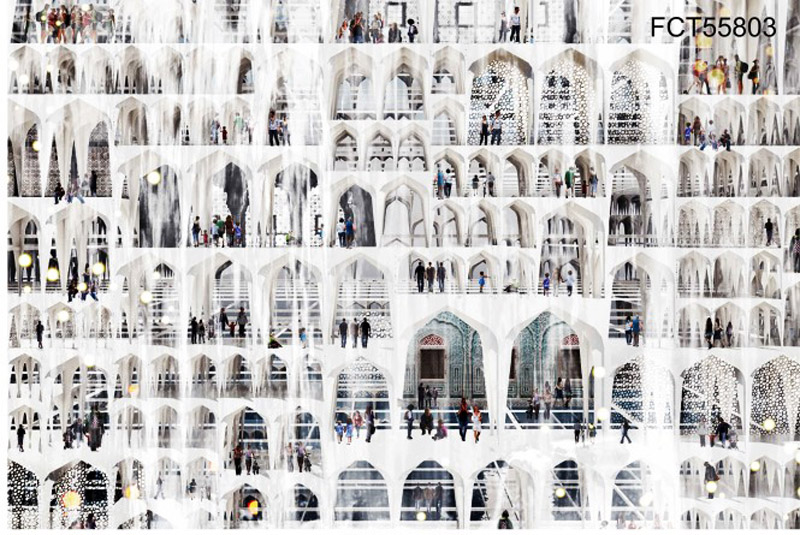 Jagoda Nowakowska, Magdalena Skop, Monika Woźniak, winning project of the Film City Tower | Mumbai: Bollywood Re-Imagined, photo: promo materials