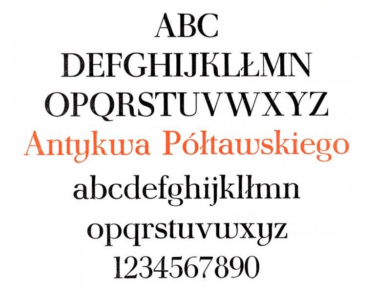 Antykwa Półtawskiego, fot. Typografia.info