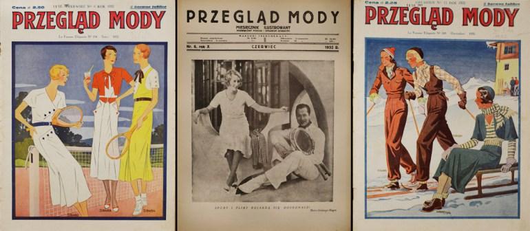 """Okładki z miesięcznika ilustrowanego """"Przegląd Mody"""", R.10, nr 6, 12 (1932), fot. zbiory Biblioteki Narodowej (Polona) / www.polona.pl"""
