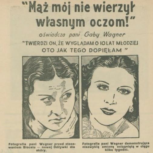 """Reklama """"Pani Wagner"""", fot. materiały archiwalne"""