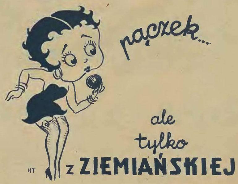 Reklama pączków z cukierni Ziemiańska, fot. materiały archiwalne