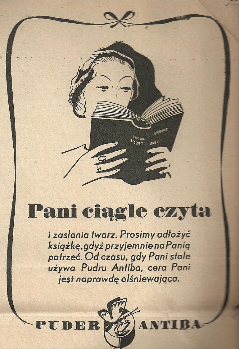 Reklama pudru marki Antiba, fot. materiały archiwalne