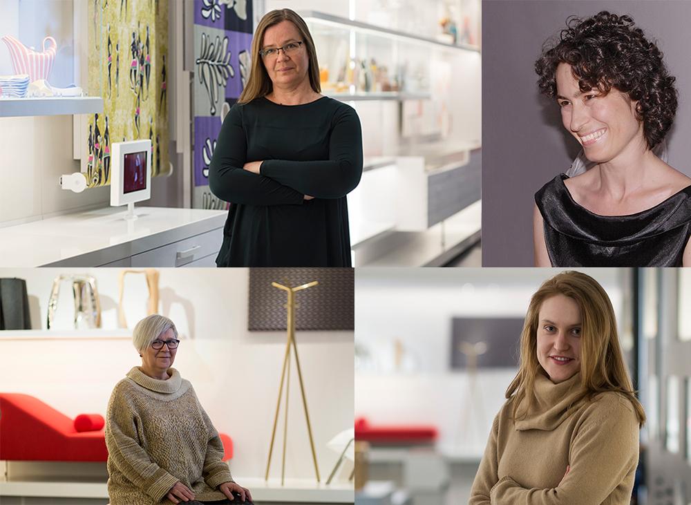 Na zdjęciu: Anna Demska, Anna Frąckiewicz, Anna Maga, Kaja Muszyńska, fot. Bartosz Bajerski / MNW i materiały prasowe MNW