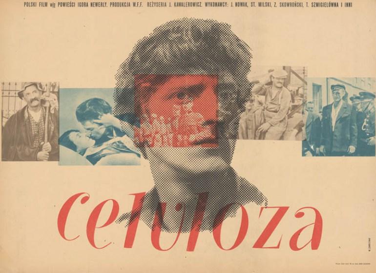 """Wojciech Zamecznik, plakat do ilmu """"Celuloza"""", reż. Jerzy Kawalerowicz , 1954, fot. z kolekcji Galerii Plakatu Piotra Dąbrowskiego / www.polishposter.com"""