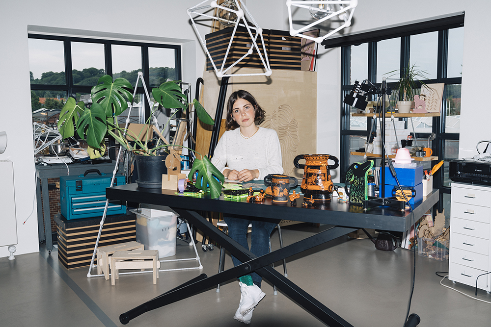 Ola Mirecka in her studio, photo: Rasmus Laurvig