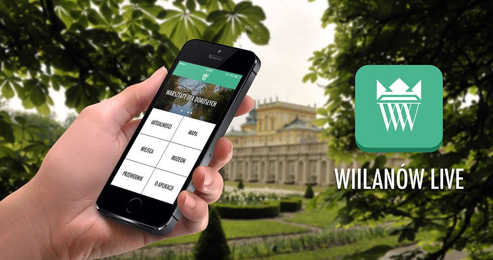 Screenshot of the Wilanów Live app