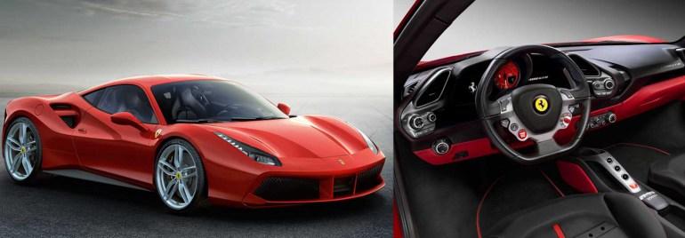 Samochód Ferrari 458 Italia oraz wnętrze zaprojektowane przez Janusza Kaniewskiego, fot. materiały prasowe producenta