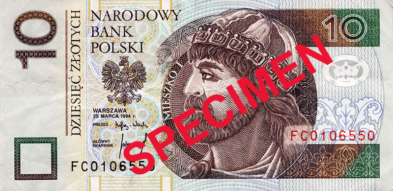 A digital specimen of the 200 zloty banknote, source: National Bank of Poland
