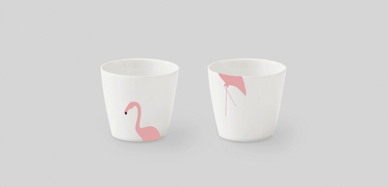 Flamingo egg cup, Kristoff Design Line, photo: https://porcelanowa.com