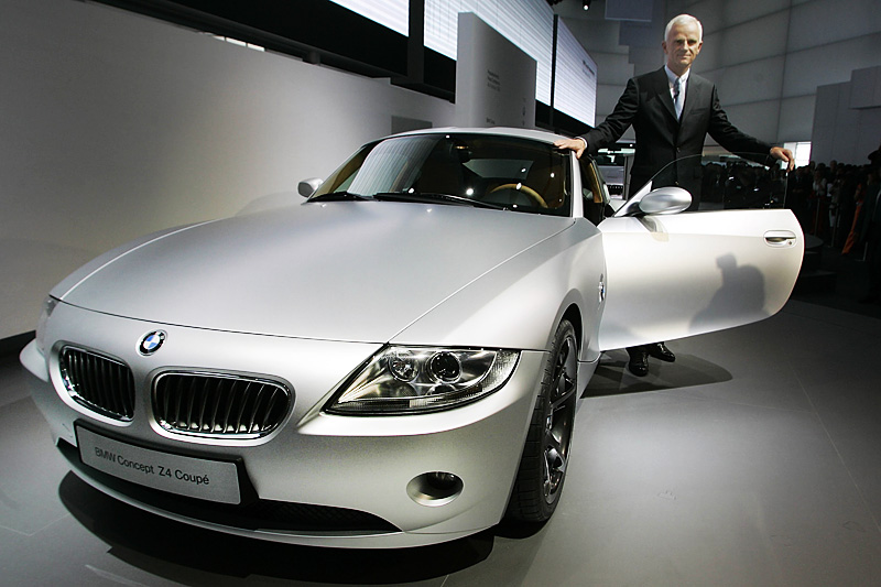 Z4 concept car during a preview at the International Motor Show in Frankfurt, Germany, 2005. photo: AP Photo/Frank Augstein/FORUM
