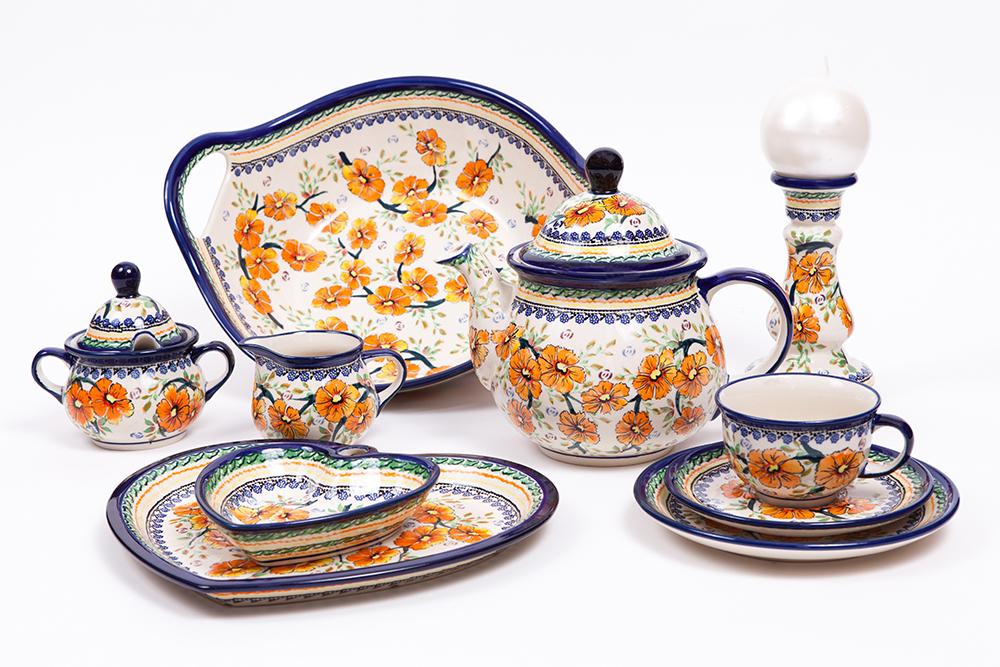 Naczynia do herbaty, Zakłady Ceramiczne Bolesławiec fot. Piotr Haftarczyk