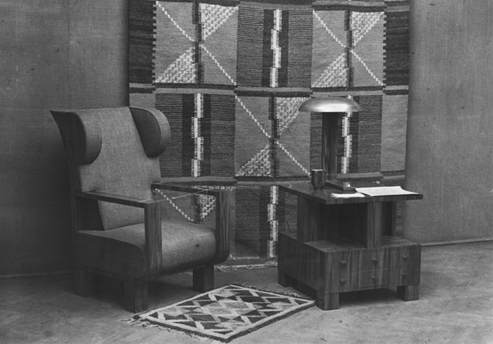 The Art of Interior Design and the Art of Embroidery exhibit at the Institute for the Propaganda of Art in Warsaw, organised by the Ład Cooperative of Visual Artists, February 1936, photo: National Digital Archive