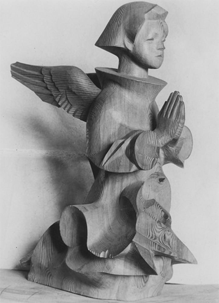 """Rzeźba dłuta artysty rzeźbiarza Jana Szczepkowskiego """"Anioł"""", 1938, fot. www.audiovis.nac.gov.pl (NAC)"""