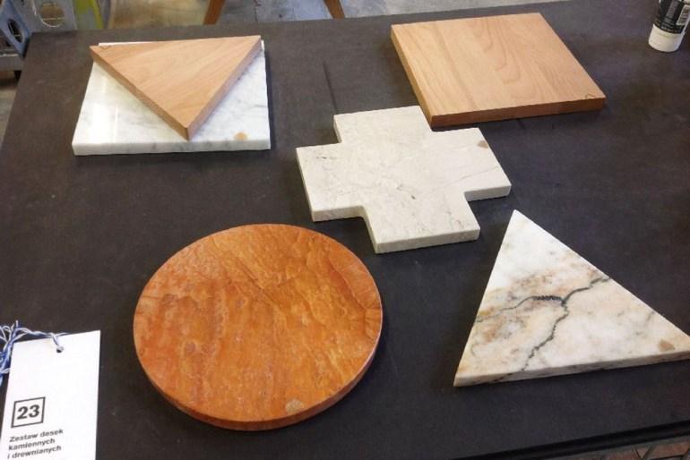 Tatemono, wooden and stone boards, photo: Łódź Design Festival