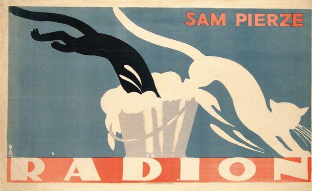 """Тадеуш Гроновский «""""Радион"""" сам стирает», 1926, фото: Музей плаката в Вилянове, филиал Варшавского национального музея"""