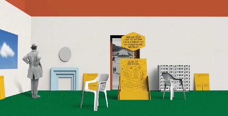 Cadavre Exquis: An Anatomy of Utopia, an excerpt from the exhibition's design by Maria Jeglinska & Klara Czerniewska, 2016, photo: press materials