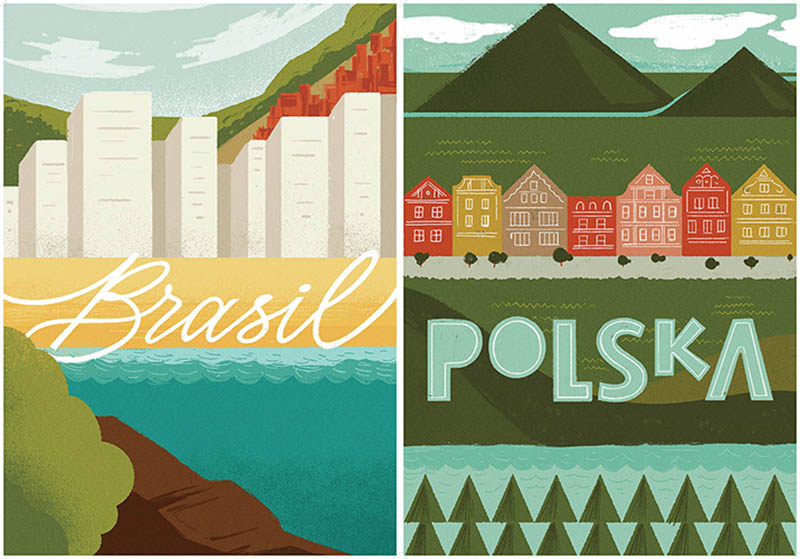 Posters Of Poland And Brazil An Experiment In Graphic