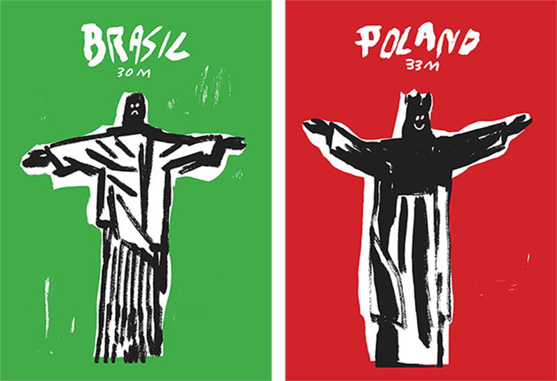 Posters Of Poland And Brazil An Experiment In Graphic Design