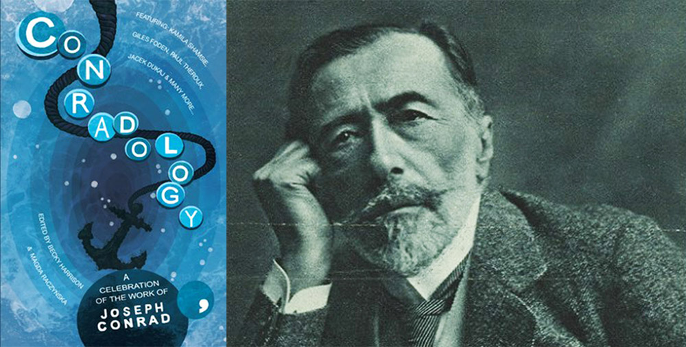 Cover of the book Conradology: A Celebration of the Work of Joseph Conrad, publisher: Comma Press, 2017, Joseph Conrad, photo: wikimedia