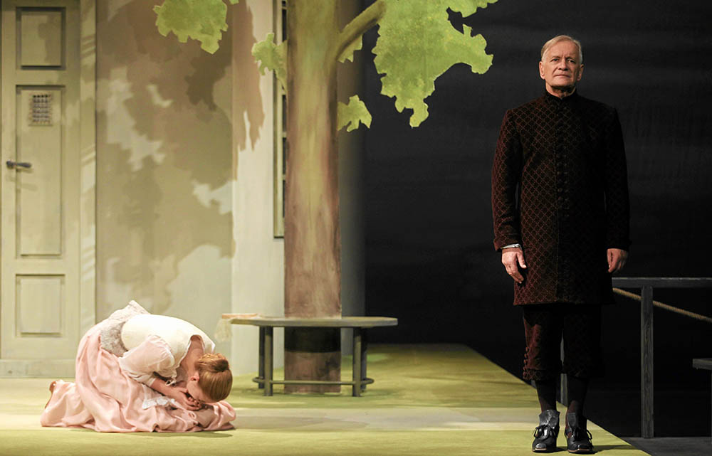 Scene from the production of The School of Wives, directed by Jacques Lassalle, 2011, Theatre Polski in Warsaw.  Pictured: Andrzej Seweryn; photo: Wojciech Olkuśnik/AG