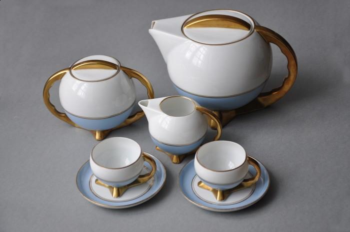 Кофейный сервис «Шар», дизайн: Богуслав Вендорф, 1932, завод фарфоровых изделий «Цмелев»